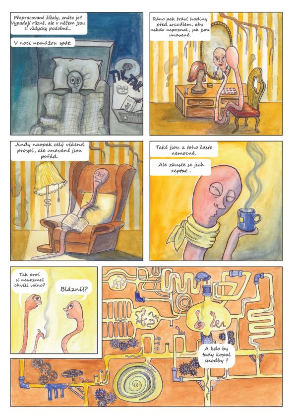 komiks - přepracované žížaly