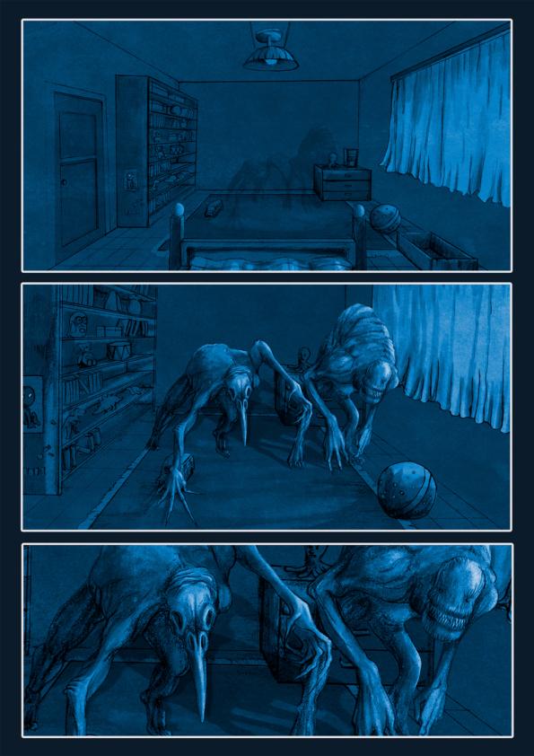komiks- bubáci v pokojíku