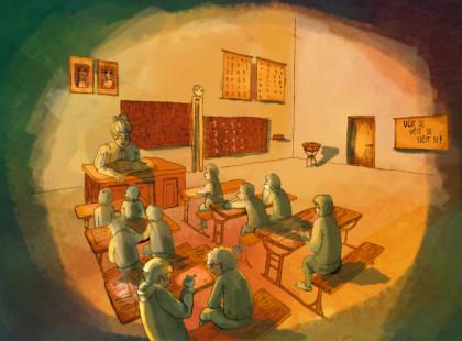 Ve škole- lustrace z Příběhu přítelství