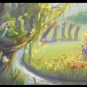 vodník na vrbě