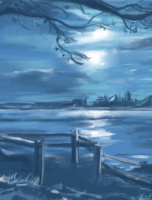 město u jezera